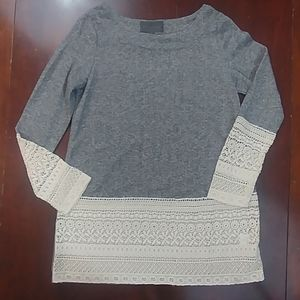 Anthro Sunday in Brooklyn Crochet Knit Pull Over